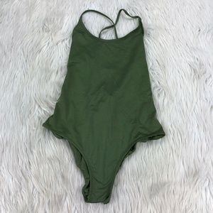 🐝 H&M Strappy Lace Up Back One Piece Swimsuit